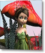 Fairy In Woodland Metal Print