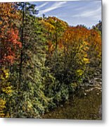Fall Along The Linville River Metal Print