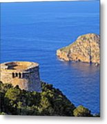 Famous Tower Of Savinar On Ibiza Island Metal Print