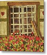 Farm Window Metal Print