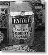 Fatoff Obesity Cream Bottled Electricity Store Window Ghost Town Virginia City Montana 1971 Metal Print