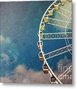 Ferris Wheel Retro Metal Print by Jane Rix