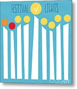 Festival Of Lights Metal Print