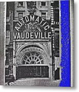 Film Homage Automatic 1 Cent Vaudeville Peep Show Arcade C.1890's New York City Collage 2013 Metal Print