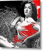Film Homage Jane Russell The Outlaw 1943 Publicity Photo Photographer George Hurrell 2012 Metal Print