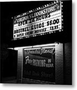 Film Noir Farewell My Lovely 1975 Brothel Guide Virginia St. Bookstore Reno Nevada 1979-2008 Metal Print