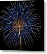 Fireworks Bursts Colors And Shapes Metal Print