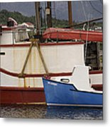 2 Fishing Boats At The Dock Metal Print