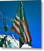 Flag Day Reflection Metal Print by Newel Hunter