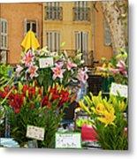 Flowers At Market Metal Print