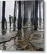 Fog At The Pier Metal Print