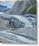 Fox Glacier Metal Print
