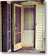 Front Door Of Abandoned House Metal Print