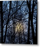 Frosted Winter Moon Metal Print
