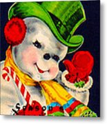 Frosty The Snowman Metal Print