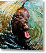Fudge Ripple Metal Print