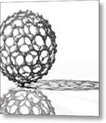 Fullerene Molecule Metal Print