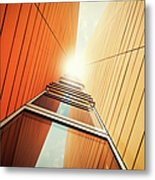 Futuristic Office Building Metal Print