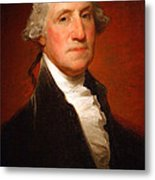 George Washington By Gilbert Stuart -- 2 Metal Print