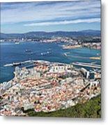 Gibraltar City And Bay Metal Print