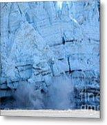 Glacier Collapse Metal Print