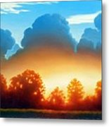 Glowing Metal Print by Kevin Lawrence Leveque