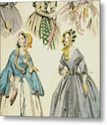 Godey's Lady's Book, 1842 Metal Print
