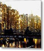 Golden Amsterdam Metal Print