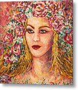 Good Fortune Goddess Metal Print