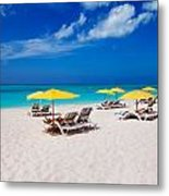 Grace Bay Beach Metal Print