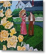 Grace Under The Parasol Metal Print