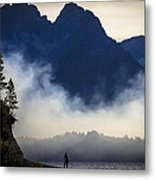 Grand Teton Sunset Metal Print