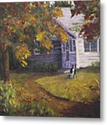 Grandma's House Metal Print by Bev Finger