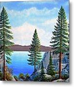 Granite Boulders Lake Tahoe Metal Print