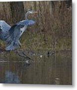 Great Blue Water Landing Metal Print