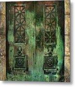 Green Doors Metal Print