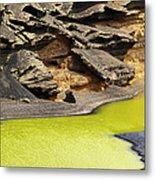 Green Lagoon On Lanzarote Metal Print