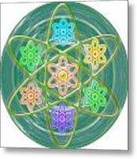 Green Revolution Chakra Mandala Art Yoga Meditation Tools Navinjoshi  Rights Managed Images Graphic  Metal Print