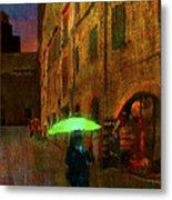 Green Umbrella Metal Print by Patrick J Osborne