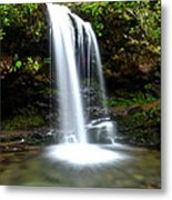 Grotto Falls Metal Print by Frozen in Time Fine Art Photography