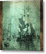 Grungy Historic Seaport Schooner Metal Print