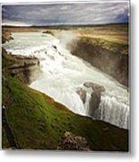 Gullfoss waterfall Iceland Metal Print
