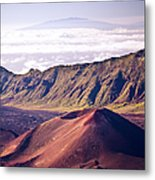 Haleakala Sunrise On The Summit Maui Hawaii - Kalahaku Overlook Metal Print
