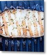 Halibut Fillet On Bbq Metal Print