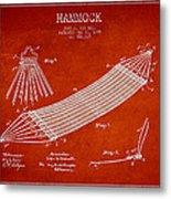 Hammock Patent Drawing From 1895 Metal Print