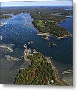 Harraseeket River And South Freeport Metal Print