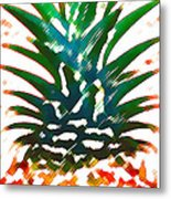 Hawaiian Pineapple Metal Print