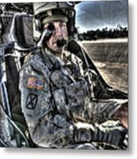 Hdr Image Of A Pilot Equipped Metal Print