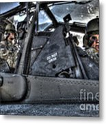 Hdr Image Of Pilots Equipped Metal Print