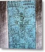 Headstone Abstract Metal Print